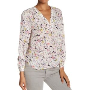 bcaf99be7f2d60 NEW Rebecca Taylor Silk Floral Top Shirt Blouse 0